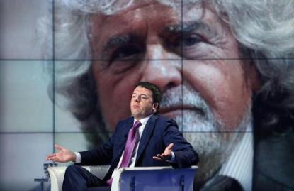 Grillo a Renzi, confronto in tv? Mi trovi tra gente