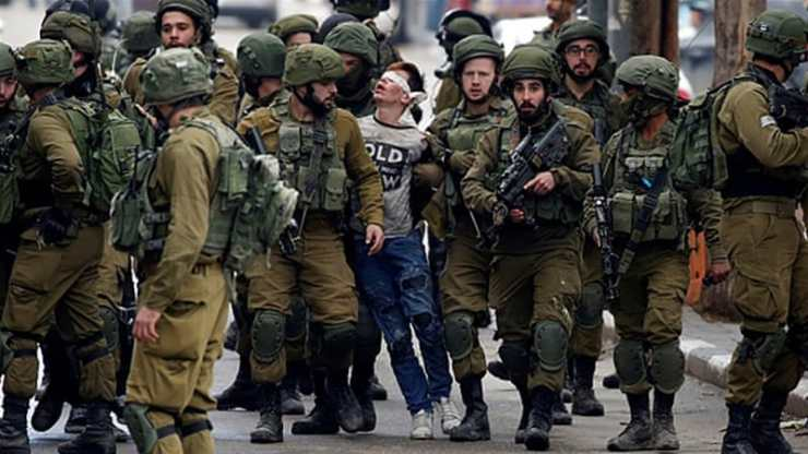 Fawzi al-Junaidi has been accused of throwing stones and will face formal charges in front of an Israeli military court on Wednesday _Wisam Hashlamoun_Anadolu Agency_Getty Images]