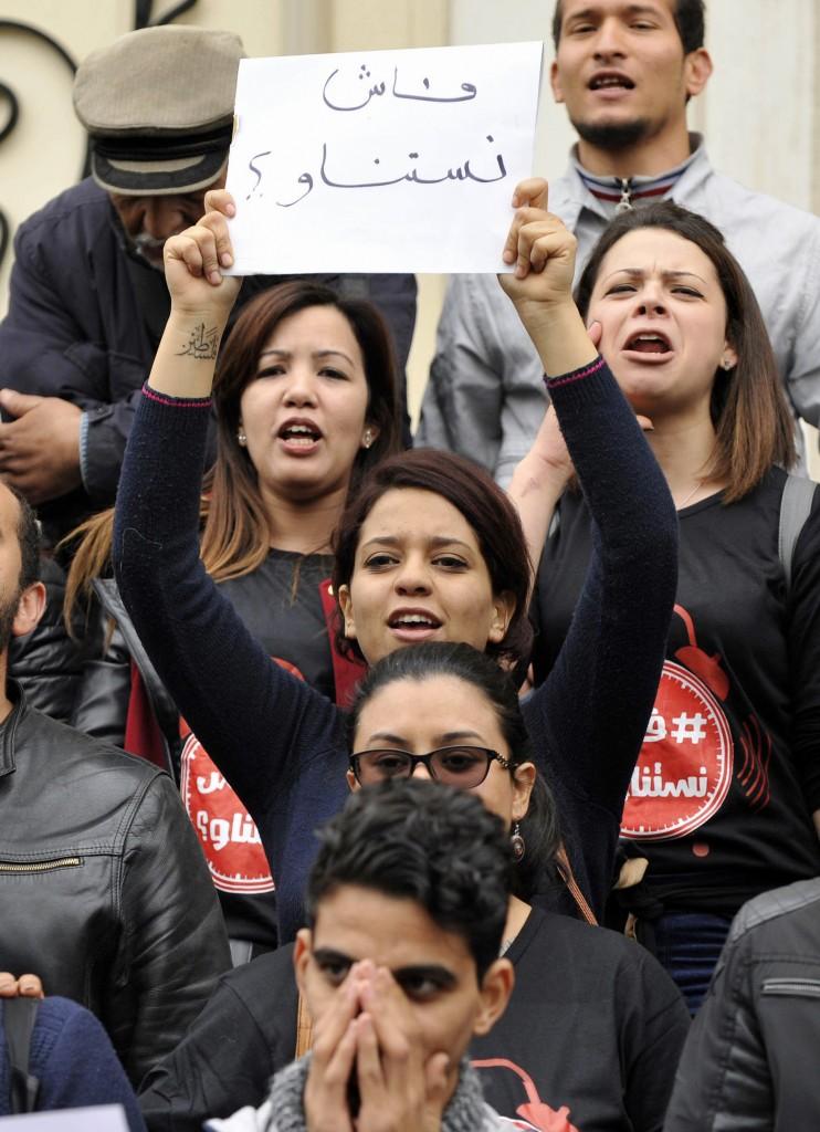 9 gennaio, la protesta anti governativa nelle strade Tunisi © Ap