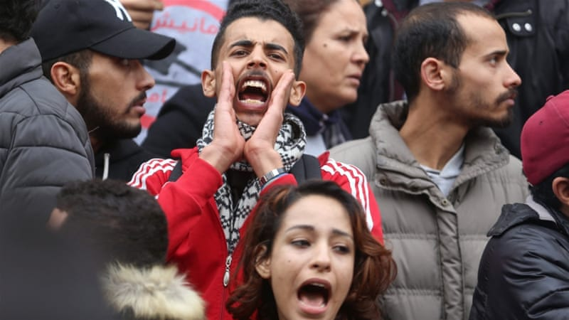 Tunisia_Demonstrators protest against rising prices and tax increases in Tunis_Zoubeir SouissiReuters