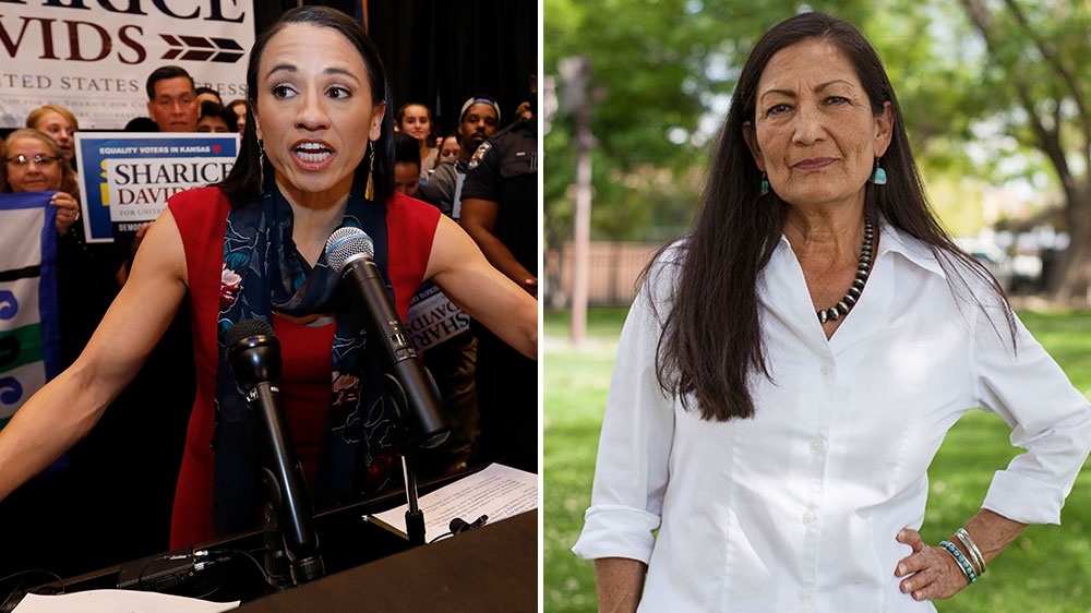 Deb Haaland e Sharice Davids _AP Photo