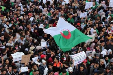 Algerians protest against the fifth term of Abdelaziz Bouteflika