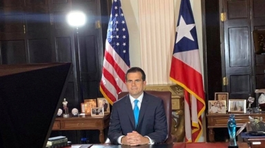 Puerto Rico Governor Ricardo Rossello speaks as he announces his resignation in San Juan _Reuters