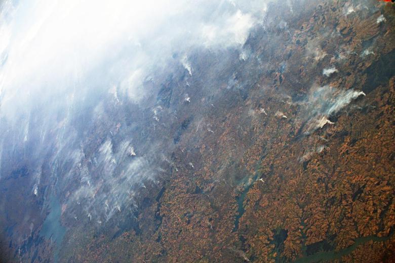 Incendi in Amazzonia dalla Stazione Spaziale_Foto_ ESA_NASA _L Parmitano