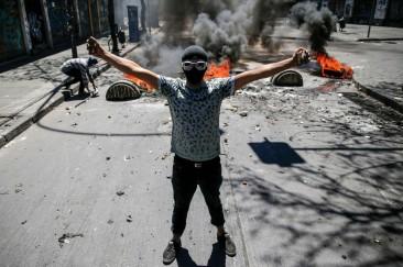 23est2-cile-27 Le proteste in Cile_Afp