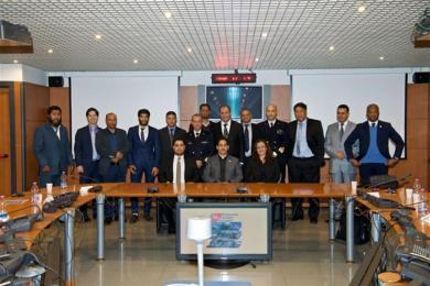 La foto ufficiale dell'incontro presso la Guardia costiera a Roma_ Il quarto da sinistra è Bija._Il terzo_ un delegato su cui stanno lavorando i pm