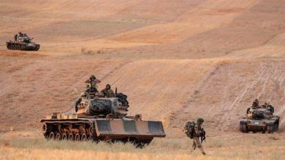 Le forze turche avanzano verso Manbij_ Siria _Ugur Can _DHA via AP
