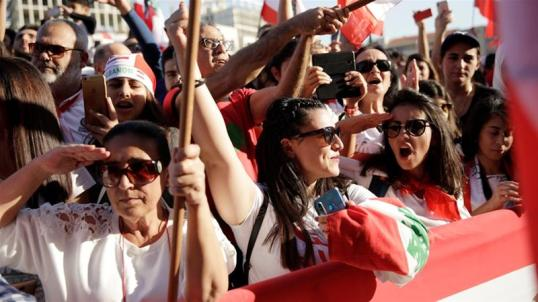 Attendees salute during a parade on the 76th anniversary of Lebanon's independence in Beirut _Andres Martinez Casares_Reuters