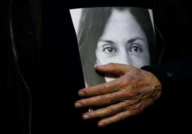 Demonstration to demand justice over the murder of journalist Daphne Caruana Galizia in Valetta