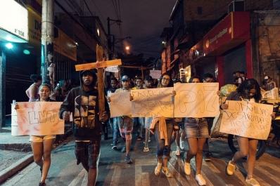 Protesta contro il massacro di Paraisópolis_questa domenica, nel sud di SP _ Daniel Arroyo _Bridge Journalism