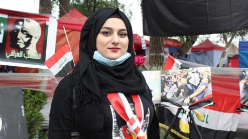 Tiba_ 23 anni, afferma di ritenere che gli scioperi della scuola costringano i politici a fare concessioni ai manifestanti _Arwa Ibrahim _ Al Jazeera