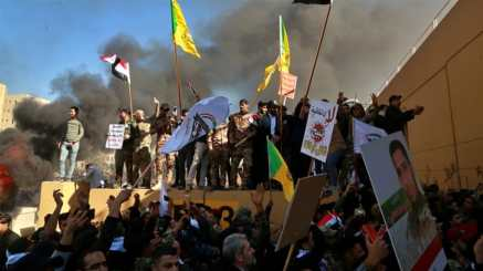 Hundreds of protesters stormed the US embassy compound in Baghdad's heavily fortified Green Zone_Khalid Mohammed_AP Photo