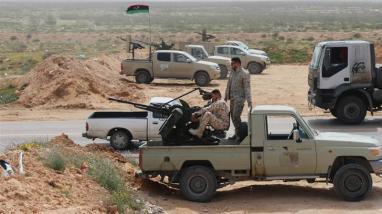 Le forze Sirte, che sono alleate con il governo sostenuto dalle Nazioni Unite a Tripoli_ si schierano a Sirte in Libia_nel marzo 2019 _ Ayman Al-Sahili_Reuters