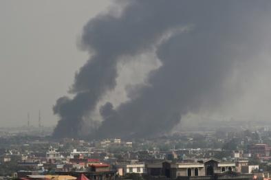 AFP_ Archivi _Wakil KOHSAR_Fumo sulla città di Kabul dopo una forte esplosione, 3 settembre 2019 in Afghanistan