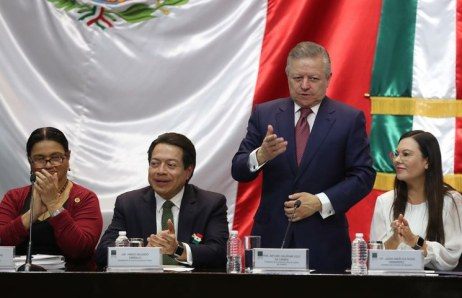 El ministro presidente de la SCJN_Arturo Zaldívar _ durante su encuentro con diputados_ Foto J Antonio López