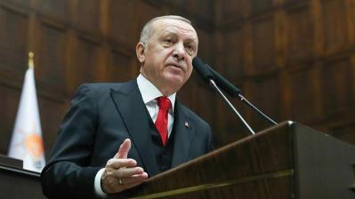 Il presidente turco Recep Tayyip Erdogan _Handout _Anadolu Agency
