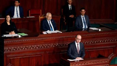 Mercoledì il primo ministro designato della Tunisia_Elyes Fakhfakh_ parla all'assemblea nella capitale_ Tunisi_Zoubeir Souissi _Reuters