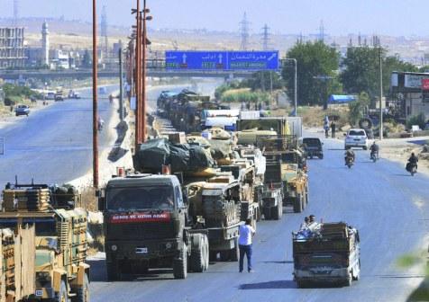 turchia-siria-idlib_Un convoglio militare turco a Idlib _Foto Dha