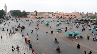 People gather at Jamaa Lafna square in Marrakech_Morocco _Youssef Boudlal_Reuters