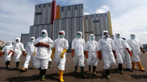 Si stima che 235000 persone siano state infettate dal coronavirus a livello globale Ajeng Dinar Ulfiana_Reuters