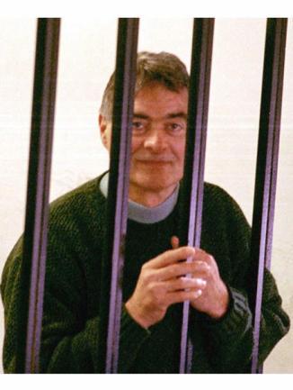Nitto Santapaola durante il processo per l' uccisione della moglie, Carmela Minniti. SALVATORE RAGONESE / ANSA