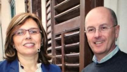 Dino Petralia con la moglie Alessandra Camassa anche lei magistrato