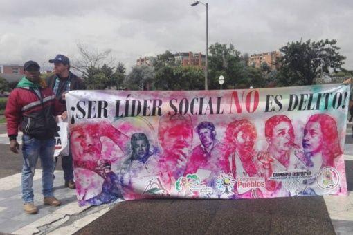 Il 9 aprile si è tenuta una mobilitazione a Bogotà per chiedere giustizia per i quasi 600 leader sociali assassinati dal 2016_ Foto_Think Chile