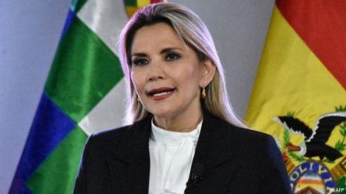 La presidente di fatto_ Jeanine Áñez_ ha ripetutamente definito i movimenti sociali come gruppi violenti_ DW