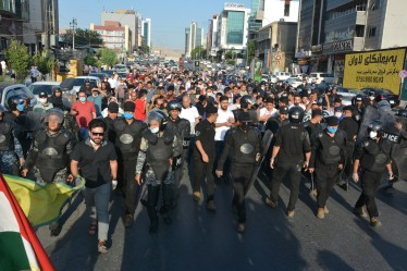 Marcia di Sulaymaniyah contro l'occupazione_RojNews10