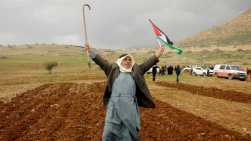 durante una protesta contro il piano mediorientale del presidente americano Donald Trump nella valle del Giordano _Raneen Sawafta _Reuters